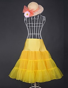 billiga Lolitamode-Söt Lolita Vintage-inspirerad Dam Kjolar Cosplay Gul / Blå / Rosa Medium längd Halloweenkostymer
