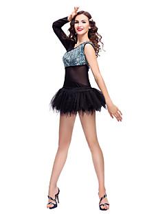 tanie Dziecięca odzież do tańca-Balet Suknie Damskie Szkolenie Koronka Tiul Z cekinami Cekin Koronka Bez rękawów Długi rękaw Naturalny