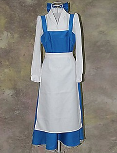 cheap Cosplay & Costumes-Beauty and The Beast Series Blue and White Maid Outfits