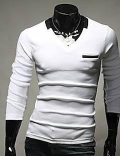 thaihoo gât rotund de culoare solidă t-shirt pentru bărbați