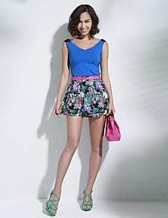 De joannekitten® vrouwen sexy bloemenprint broek
