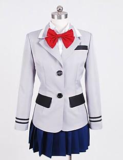 """Inspirert av Tokyo Ghoul Kirishima Touka Anime  """"Cosplay-kostymer"""" Cosplay Klær Lapper Trøye Topp Skjørte Krage Til Kvinnelig"""