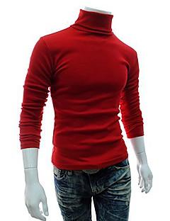 tanie Męskie swetry i swetry rozpinane-Męskie Sport Weekend Vintage Szczupła Pulower Jendolity kolor