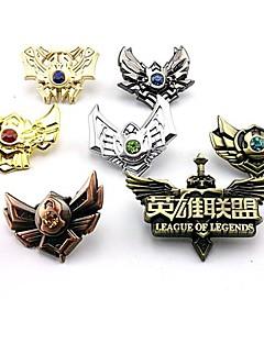billige Anime Cosplay Tilbehør-Smykker / Emblem Inspirert av LOL Cosplay Anime / Videospil Cosplay Tilbehør Emblem Sølv Legering Mann / Kvinnelig