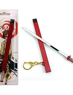 Mer Tilbehør Inspirert av Akame Ga Kill! Cosplay Anime / Videospil Cosplay Tilbehør Nøkkelring Rød Legering Mann