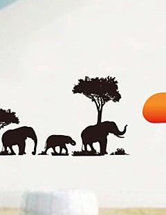 Cheap Landscape Wall Stickers Online Landscape Wall Stickers For - Wall decals animalsafrican savannah wall sticker decoration great trees with