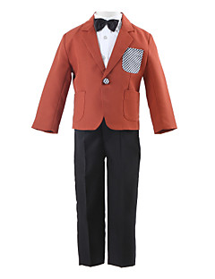 Polyester Yüzük Taşıyıcısı Takımı - 4 Parçalar Kapsar Ceket Pantolon Gömlek Papyon