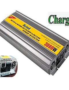 Χαμηλού Κόστους Αυτοκίνητα-meind® μετατροπέα ρεύματος 3000W με φορτιστή 12v dc σε 220v ac μετατροπέα m3000cd μετατροπείς αυτοκινήτων τροφοδοτικό