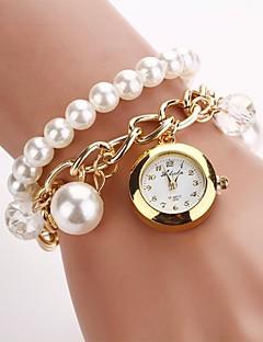 baratos -Mulheres Relógio de Moda Bracele Relógio Quartzo Lega Banda Pérolas Branco Dourada