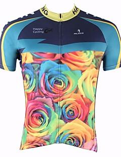 billige Sykkelklær-ILPALADINO Herre Kortermet Sykkeljersey Sykkel Fort Tørring, Ultraviolet Motstandsdyktig, Pustende