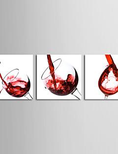 Strukket Lærred Print Lærred Sæt Sille Liv Moderne,Tre Paneler Kanvas Horisontal Print Vægdekor For Hjem Dekoration