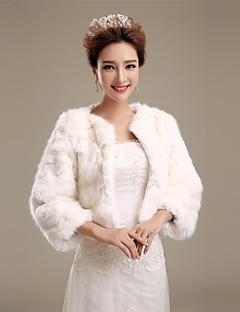 cheap Wedding Wraps-Faux Fur Wedding Party Evening Fur Wraps Wedding  Wraps Fur Coats Coats / Jackets