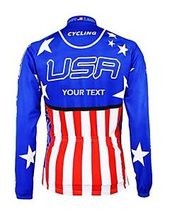 billige Sykkelklær-Kooplus Herre Dame Unisex Langermet Sykkeljersey Sykkel Jersey Velg Farge 6 # Velg Farge 7 # Velg Farge 8 # Velg Farge 9 # Velg Farge 10 #