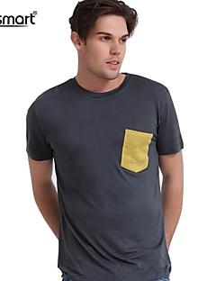billige Herremote og klær-T-skjorte Herre-Ensfarget Chic & Moderne