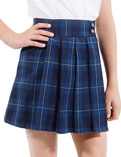 חצאית קפלי טטרסול הכחול של בנות בית הספר מדים הכהה