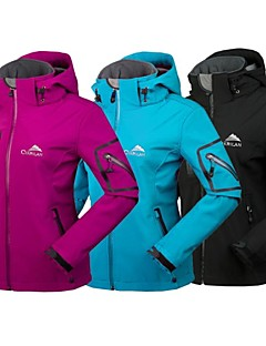 cheap Softshell, Fleece & Hiking Jackets-Cikrilan Women's Hiking Softshell Jacket Outdoor Winter Waterproof Thermal / Warm Waterproof Zipper Breathable Fleece Winter Jacket
