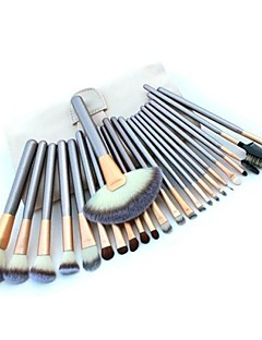 cheap Makeup Brushes-24 Makeup Brush Set Nylon High Quality Eye Face Lipstick Eyebrow Mascara EyeShadow Blush Concealer Powder Foundation Lip Daily High