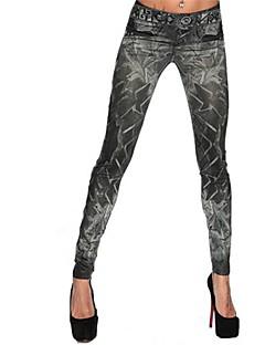 tanie Getry-Damskie Jeans Legging - Geometic Średni Talia