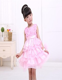 Girl's Floral Dress,Others All Seasons Sleeveless Screen Color