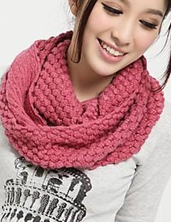 女性のファッショントウモロコシ編み物暖かいスカーフ