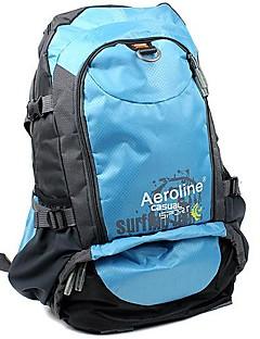 billiga Ryggsäckar och väskor-35L Ryggsäckar - Vattentät, Snabb tork, Damm säker Utomhus Camping, Jakt, Skidåkning Nylon Röd, Grön, Blå
