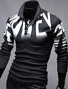 Neformalan Kratke majice - MEN - Kragna košulje - Dugi rukav ( Pamuk Blend )