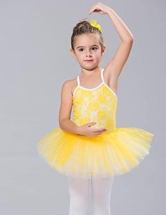 billige Ballettantrekk-Danseklær til barn / Ballet Kjoler & Skjørt / Tutuer / Topper Spandex / Blonder / Tyll Ermeløs / Ballett / Oppvisning