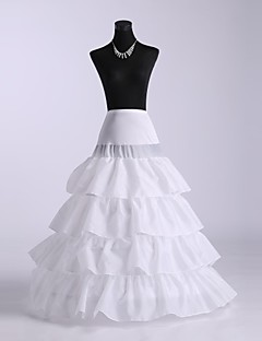 billiga Brudklänningsunderkjol-Bröllop Underklänningar Chinlon Golvlång A-linjeformad Underkjol/klänning Balklänning Underkjol Med