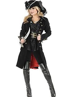 Pirat Cosplay Kostumer Party-kostyme Kvinnelig Halloween Jul Karneval Festival/høytid Halloween-kostymer Svart Lapper