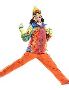 Calças & Jaquetas de Esqui Mulheres Esqui Esportes de Inverno Prova-de-Água Térmico/Quente A Prova de Vento Á Prova-de-Pó Vestível