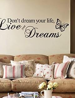 halpa Sanat ja lainaukset -seinätarrat-Words & Quotes Wall Tarrat Lentokone-seinätarrat Koriste-seinätarrat, PVC Kodinsisustus Seinätarra Seinä