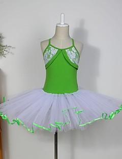 子供用ダンスウェア トップス チュチュ ワンピース スカート 子供用 コットン チュール ノースリーブ
