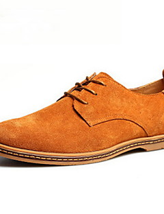 cheap -Men's Suede Shoes Suede Spring / Fall British Oxfords Brown / Green / Khaki / Lace-up / Comfort Shoes
