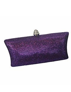 cheap Fashion Handbags & Accessories-Women's Bags Glitter Evening Bag for Event/Party All Seasons Black Silver Purple Brown Navy Blue