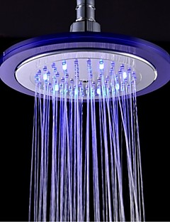 Contemporary Rain Shower Chrome Feature-Rainfall LED , Shower Head