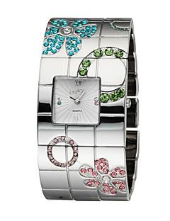 billige Blomster-ure-Dame Modeur Armbåndsur Quartz Japansk Quartz 30 m Legering Bånd Analog Blomst Sølv