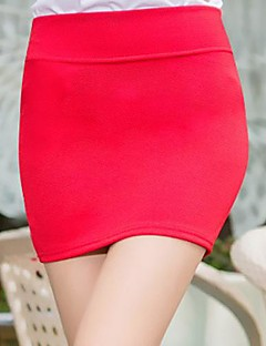 Women's Daily Going out Mini Skirts,Sexy Bodycon Cotton Others Solid All Season All Seasons