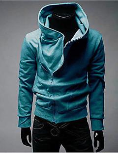 baratos Abrigos e Moletons Masculinos-Homens Tamanhos Grandes Esportes Activo Manga Longa Jacket Hoodie Sólido