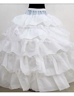 billiga Brudklänningsunderkjol-Bröllop / Speciellt Tillfälle Underklänningar Polyester Golvlång Balklänning Underkjol med
