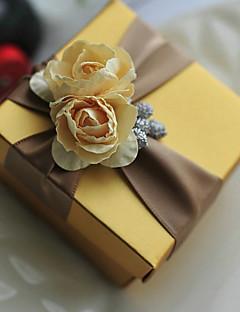 baratos Loja de Casamentos-Redonda Quadrada Cúbico Papel de Cartão Suportes para Lembrancinhas com Estampado Flor Caixas de Ofertas Caixas de Presente - 6