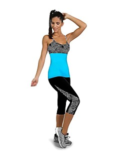 Women's Sport Bra with Running Pants Quick Dry Wearable Compression Shockproof Leggings 3/4 Tights Pants / Trousers Clothing Suits Bottoms