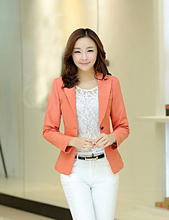 Women's Casual Medium Long Sleeve Regular Blazer (Cotton)