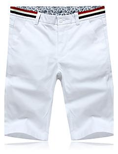 billige Herrebukser og -shorts-Herre Shorts Bukser Bomull Ensfarget