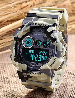 SANDA Pánské Sportovní hodinky Vojenské hodinky Módní hodinky Náramkové hodinky Křemenný Plastic Kapela Šedá