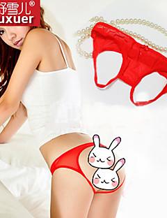 abordables -Ultra Sexy Vêtement de nuit Femme Coton Fil Guipé Rouge Noir