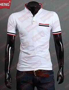 billige Herremote og klær-Store størrelser T-skjorte - Stripet, Trykt mønster Herre