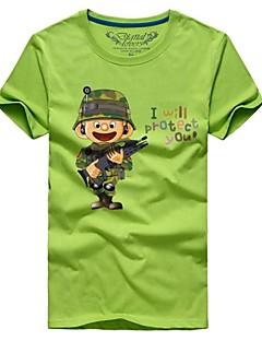 billige plusstørrelser-Herre - Trykt mønster Tegneseriefigurer Sport T-shirt