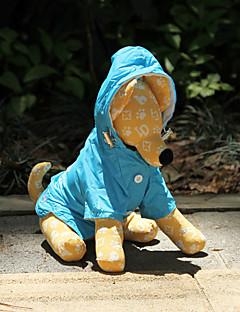 billiga Hundkläder-Hund Regnjacka Hundkläder Enfärgad Orange Ros Blå Nylon Kostym För husdjur Vattentät