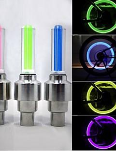 baratos Total Promoção Limpa Estoque-Luzes de Bicicleta / Luzes de Tampa de Válvula / luzes da roda LED - Ciclismo Impermeável 50 lm Bateria Ciclismo