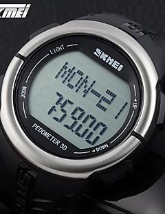 billige Digitalure-SKMEI Herre Quartz Digital Japansk Quartz Digital Watch Sportsur Alarm Kalender Kronograf Vandafvisende Pulsmåler LCD Gummi Bånd Vedhæng